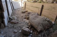 Montgai precinta l'accés a les trinxeres després dels actes de vandalisme