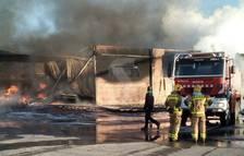 Espectacular incendio en L'Albi
