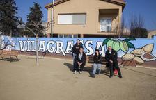 Vilagrassa estrena mural en la plaza del Filador