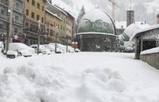 La nevada més important en deu anys al Pont de Suert
