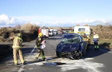 Un ferit al bolcar un vehicle a la carretera C-12