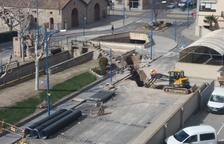 Obres per frenar les inundacions al centre de Mollerussa