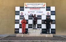 Una leridana, primera mujer en competir y ganar una prueba de la máxima categoría del Estatal de autocross