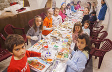 Guinovart y Viladot en los talleres infantiles de Agramunt