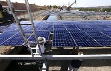 El Algerri-Balaguer ya llena varias balsas de regadío con energía solar