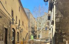 Tall d'aigua a Solsona per les obres de remodelació del carrer Sant Miquel