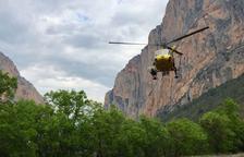 Rescatada una dona ferida al congost de Mont-rebei