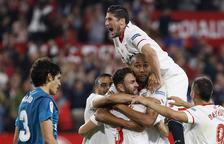 El Sevilla supera a un Madrid al que no le bastó su reacción final