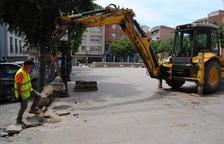 Mollerussa inicia la històrica reforma del centre i trasllada 75 places d'aparcament