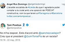 Intercanvi de tuits entre Postius i Ros