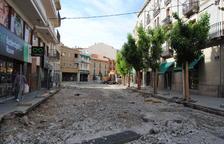El centre de Mollerussa, 'aixecat' per obres
