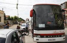 Usuarios del tren de La Pobla, en bus al Pallars