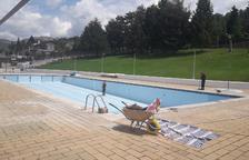 Oliana ultima las obras de mejora de la piscina municipal