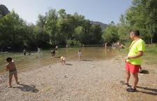 Camarasa regula els usos i la zona de bany de l'àrea recreativa del riu
