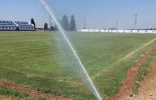 Castellserà instal·la reg soterrat al camp de futbol