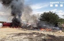 Sufoquen un incendi a Torregrossa