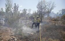 Un segon incendi en 24 hores calcina 2,5 hectàrees més a Aitona