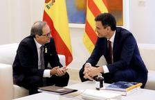 Sánchez y Torra acuerdan convocar comisión bilateral Estado-Catalunya