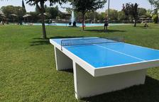 Mollerussa instal·la tres equipaments per a la pràctica del tenis taula