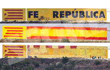 Guerra de murals a Bellpuig al provar d'esborrar el lema sobiranista