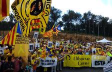 Forcadell, traslladada a una presó de Tarragona i emparada per ANC i Òmnium
