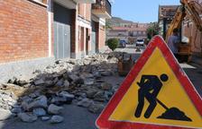 Mequinensa reforma voreres i ferm del carrer G