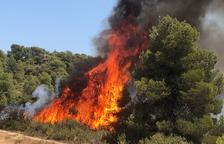 Incendio en Juncosa por una crema agrícola no autorizada