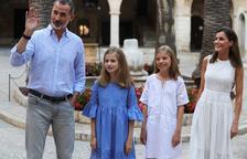 La familia real estrena posado veraniego en el palacio de la Almudaina