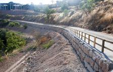 Mur de contenció per assegurar l'accés a Talavera