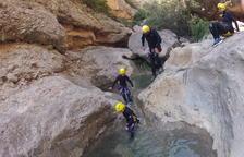 Trabajos para extremar la seguridad en los descensos de barrancos del Sobirà