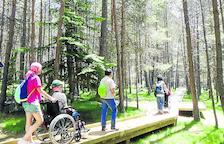 El Parc Natural del Alt Pirineu, con más itinerario para personas en silla de ruedas