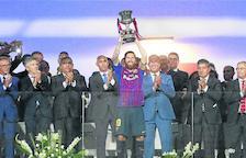 Messi es converteix en el jugador més premiat de la història del Barcelona