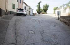 Cambio de pavimento de la calle del Castell de la capital
