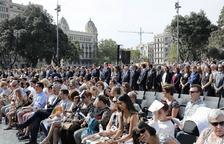 Sentido homenaje en Barcelona a las víctimas de los atentados del 17-A