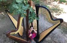 Curso internacional de arpa en L'Horta de Lleida con 8 alumnos