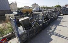 La basura electrónica se triplica en Lleida en 7 años y llega a 2.500 t al año