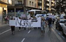 Una manifestació talla Lluís Companys i Acadèmia com a protesta pel canvi de sentit