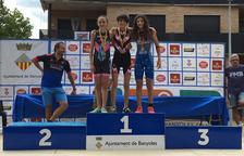 Zoe Escobar, subcampiona de Catalunya de triatló de categoria infantil
