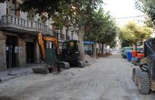 La reforma de les tres places del centre de Mollerussa, a punt a finals d'octubre