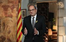 "Quim Torra insta els catalans a decidir entre ""conformar-nos o resistir i avançar"""