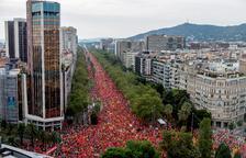 """Un milió de persones criden """"llibertat presos polítics"""" en la Diada post 1-O"""