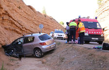Ferit en un accident que obliga a tallar durant dos hores la carretera a Maials
