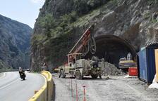 Excavados nueve metros del túnel de Tres Ponts en la C-14