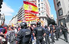 Manifestacions a favor i en contra de la immersió i l'escola catalana a Barcelona