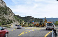 Comienza la reforma del puente de Peramola, punto negro de la C-14