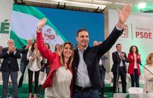 Susana Díaz inicia la campanya electoral amb el suport de Sánchez