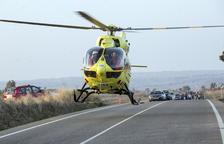 Heridos dos motoristas, uno crítico, al chocar en Claravalls