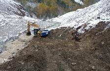 Empiezan las obras para evitar los vertidos de arcillas al Garona