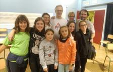 Alumnes de l'Escola de Música de la Seu, en una cantata a Andorra