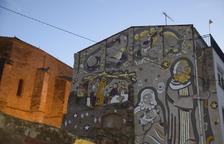 Ultiman el nuevo mural del Pessebre Vivent de Linyola